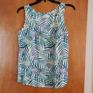 Womens Flowy Tank Jungle Leaf Print Xl Dressy